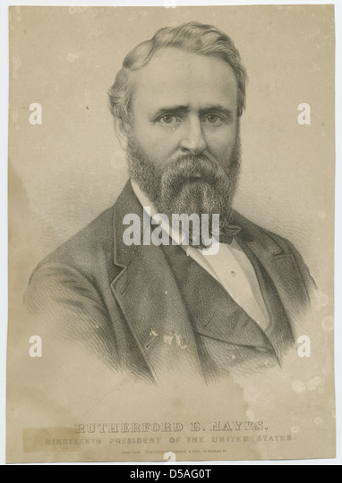 Rutherford birchard hayes stock photos rutherford for Who is the most famous president of the united states