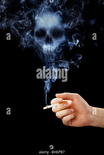 smoking skull skeleton...