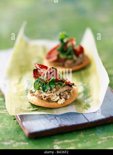 toasts vegetables from provence and tapenade oysters and tapenade on ...