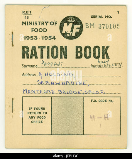 Ww2 ration book coupons