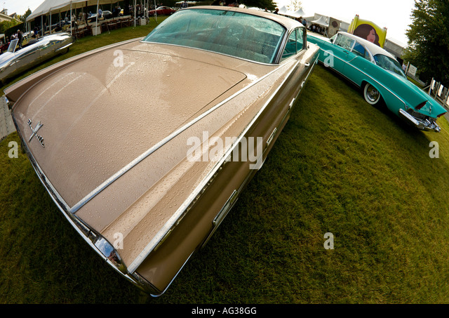 1960 chevrolet impala with fisheye lens at goodwood festival of speed