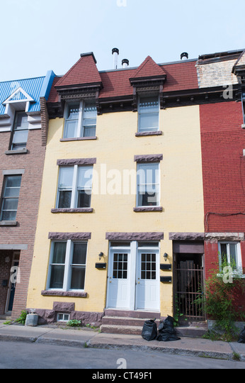 3 story building stock photos 3 story building stock for Minimalist house quebec