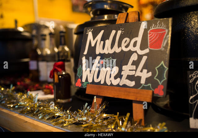 German Christmas Market Mulled Wine Stock Photos & German ...