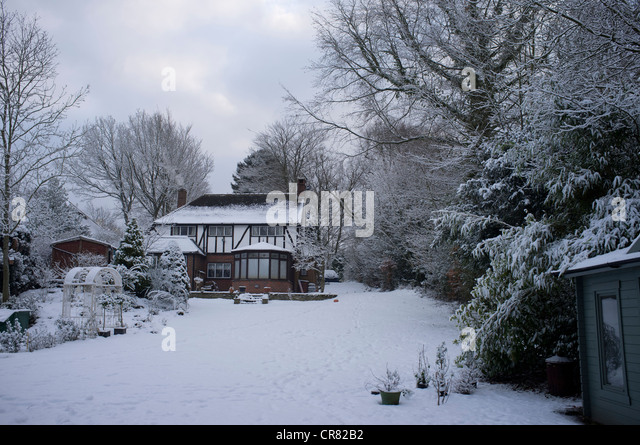 English Country Garden Winter Stock Photos English