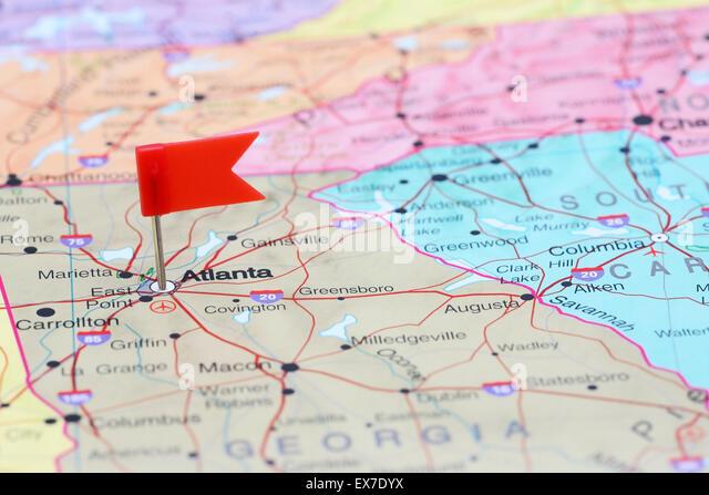 Atlanta Map Stock Photos Atlanta Map Stock Images Alamy - Atlanta usa map