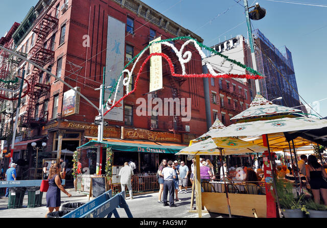 San gennaro Italian festival Mulberry St. Little Italy Manhattan New ...