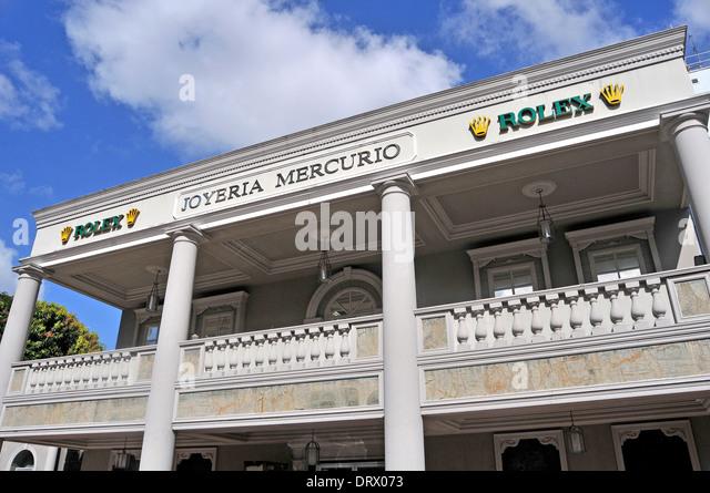 joyeria mercurio rolex panama city panama stock image
