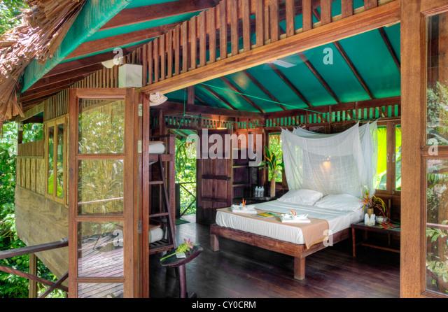 Tree House Interior tree house bungalows stock photos & tree house bungalows stock