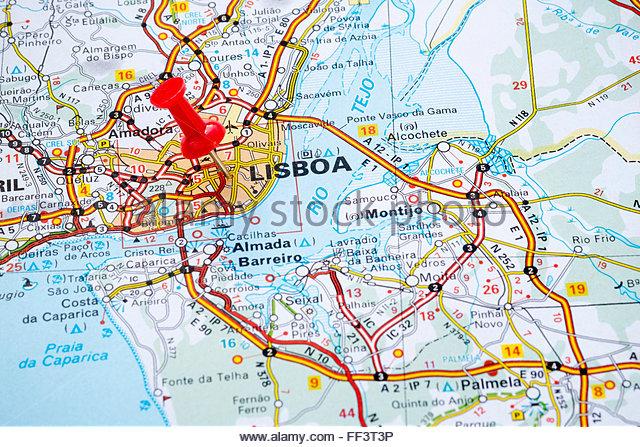 Lisbon City Map Stock Photos Lisbon City Map Stock Images Alamy