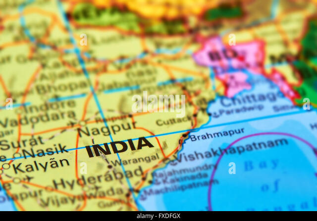 India map stock photos india map stock images alamy india large asian country on the world map stock image gumiabroncs Image collections