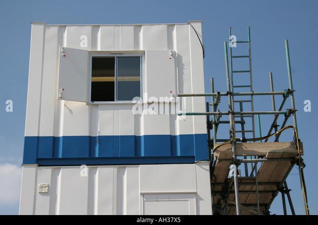 Temporary Construction Office : Temporary construction site office stock photos