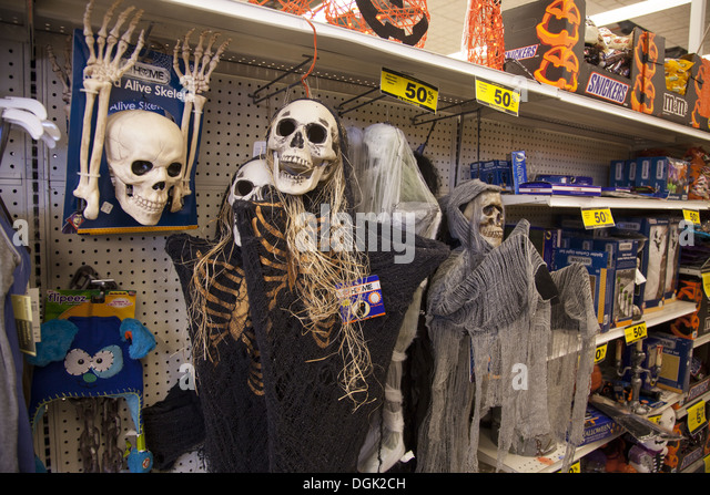halloween decorations in a variety store brooklyn ny stock image - Halloween Stores Ny