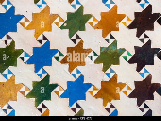 Alhambra tile stock photos alhambra tile stock images for Alhambra decoration