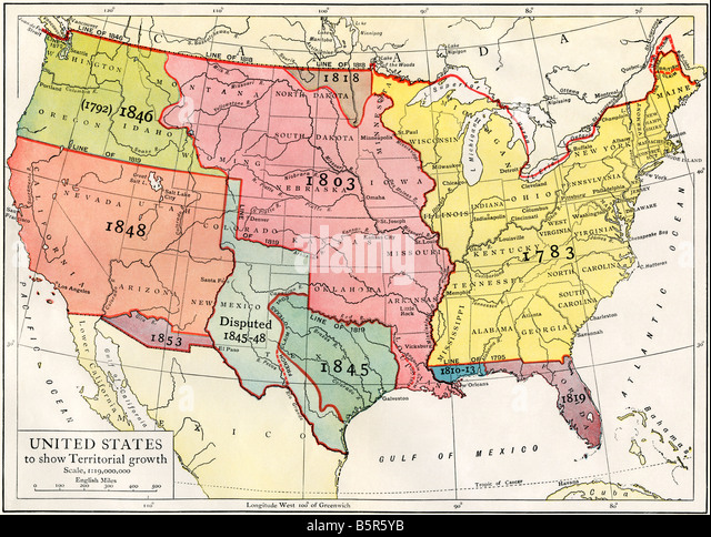 Us Map Stock Photos Us Map Stock Images Alamy - Us map 1819