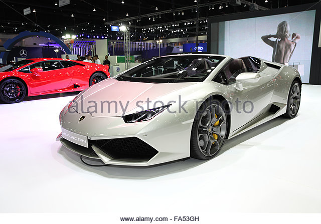 BANGKOK December 11: Lamborghini Huracan Car On Display At The Motor Expo  2015 On