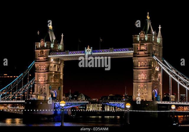 Christmas Lights London Bridge Stock Photos & Christmas ...