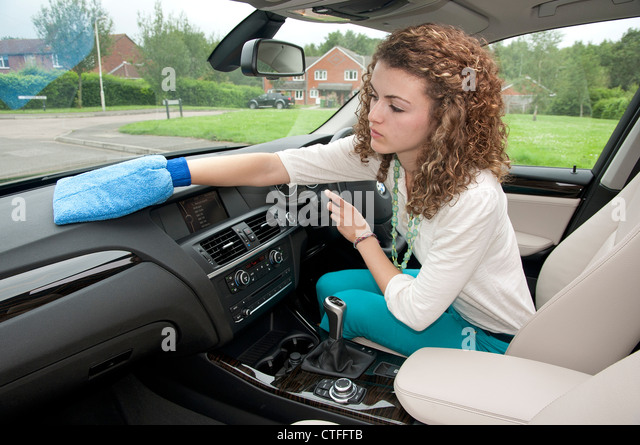 woman interior car cleaning stock photos woman interior car cleaning stock images alamy. Black Bedroom Furniture Sets. Home Design Ideas