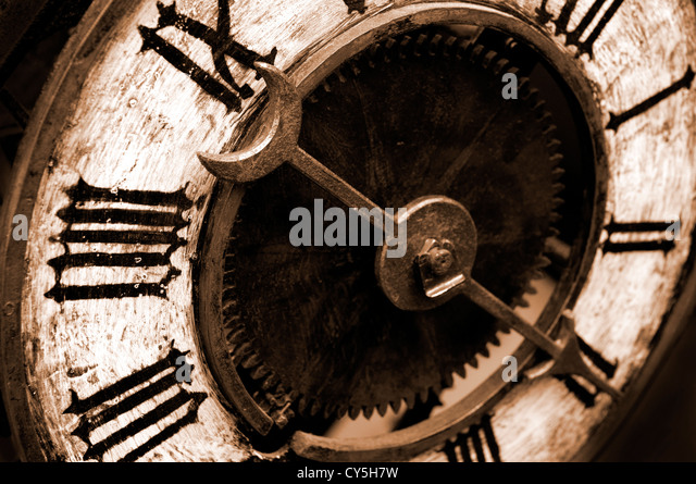 Antique Clock Face Working Stock Footage Video 656290 | Shutterstock