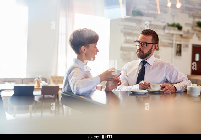Tea after lunch - Stock Image
