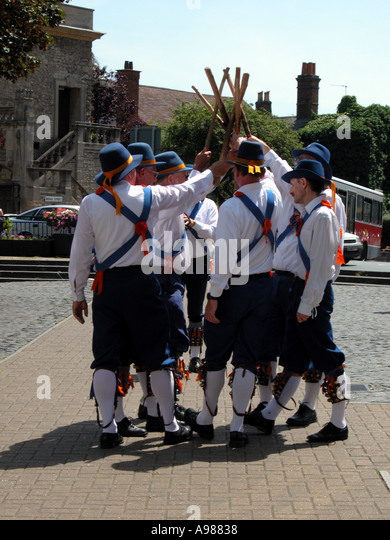 Abington United Kingdom  City pictures : Morris Dancers Abingdon Oxfordshire United Kingdom Stock Image