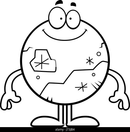 Pluto Dwarf Planet Black And White Clipart
