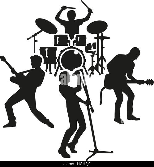 94 Marching Drummer Silhouette
