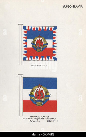 Yugoslavia flags president s flag president of people s federal