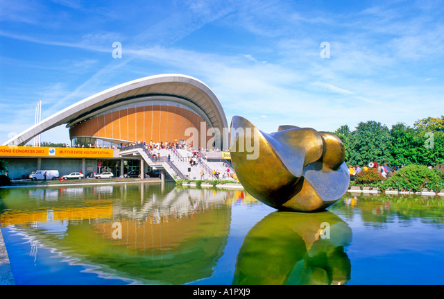 House of the cultures of the world berlin germany stock image