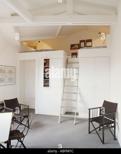 Mezzanine Loft Conversion mezzanine bedroom stock photos & mezzanine bedroom stock images