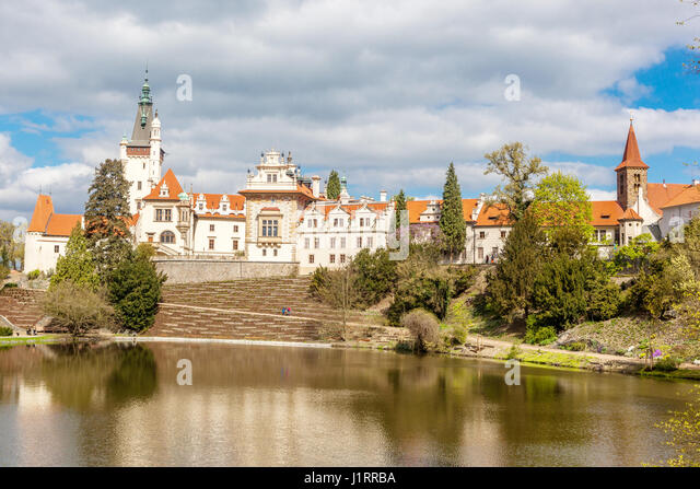 Pruhonice castle park prague czech stock photos for Where is prague near