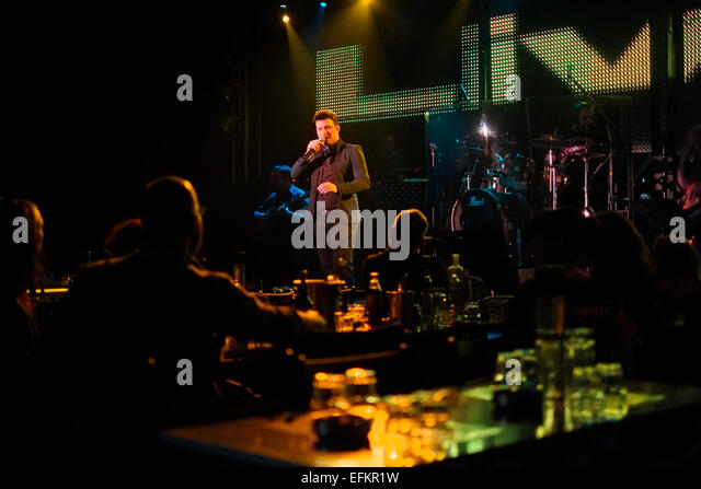Greek singer performing live during Rembetiko performance in the city ...