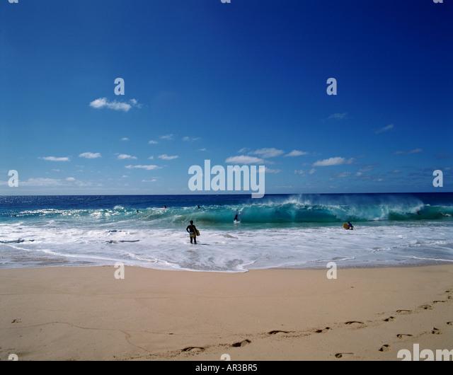 Bodysurfing Sandy Beach Oahu Hawaii