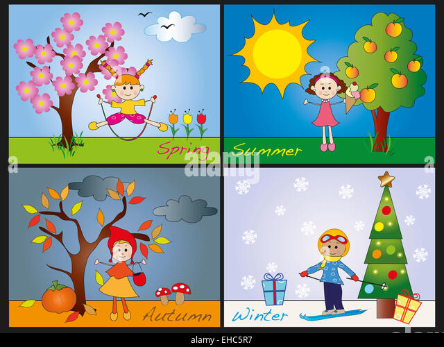 Four Seasons Tree Stock Photos & Illustration Four Seasons ...