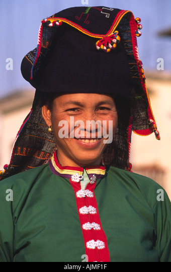 <b>Tai dam</b> woman Muang sing Northern Laos - Stock Image - tai-dam-woman-muang-sing-northern-laos-ajmf1f