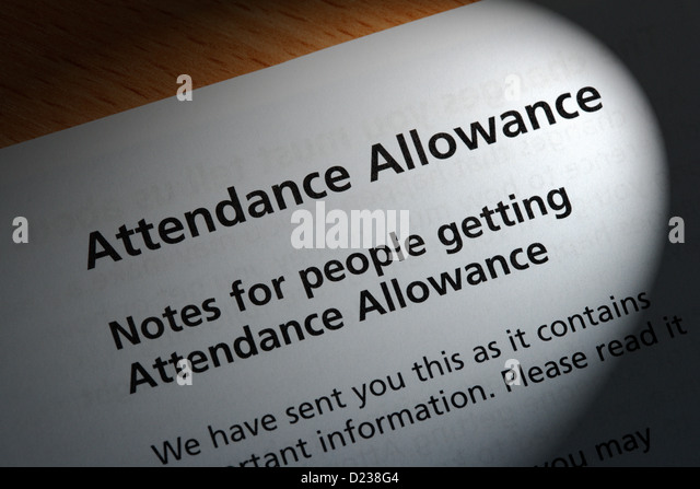 Attendance Allowance Stock Photos  Attendance Allowance Stock