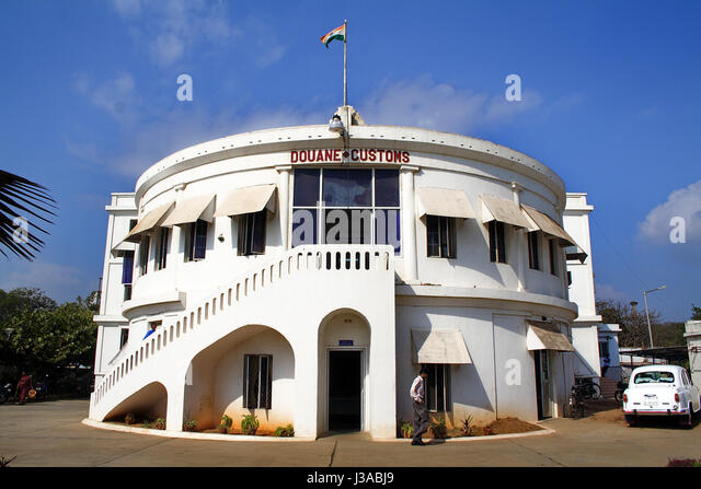 French Colonial India Puducherry Stock Photos French Colonial