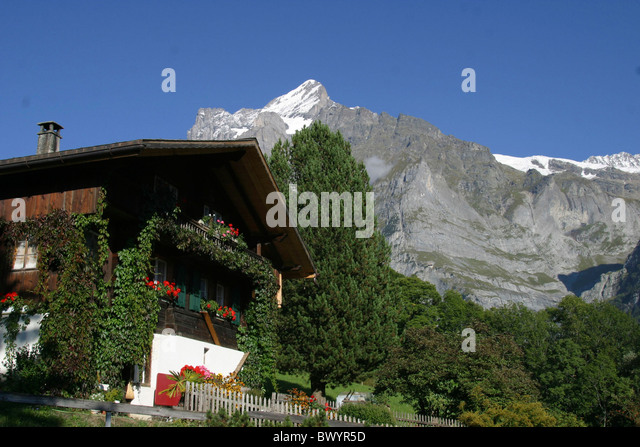 Chalet mountains grindelwald bern switzerland stock photos for 15567 canton ridge terrace