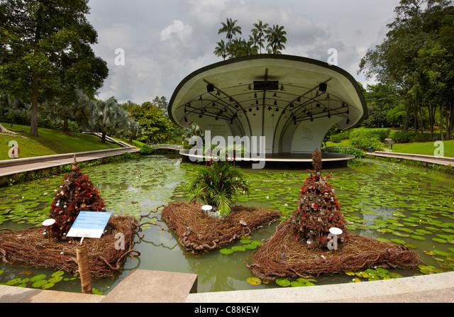 Symphony Lake, Singapore Botanic Gardens   Stock Image