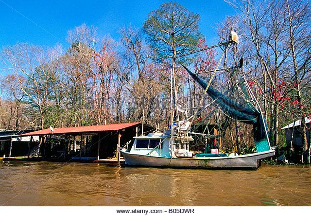 Shrimp boat louisiana stock photos shrimp boat louisiana for Louisiana fishing camps