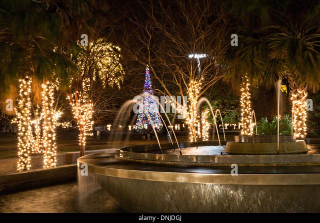 Christmas Lights On Marion Square