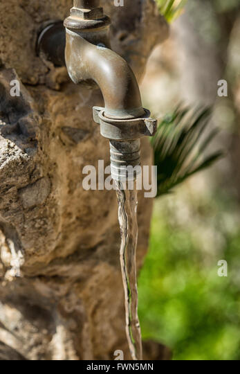 Running Garden Faucet Stock Photos Running Garden Faucet Stock
