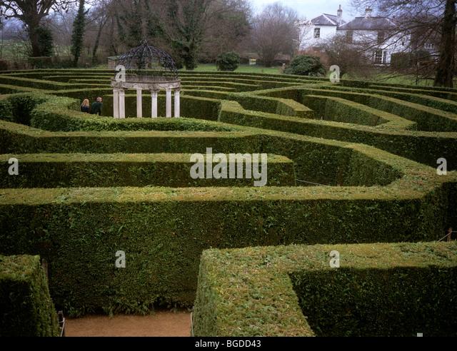 Uk England Herefordshire Symonds Yat Visitors Jubilee Maze Hedge Puzzle Stock Photos Images Alamy