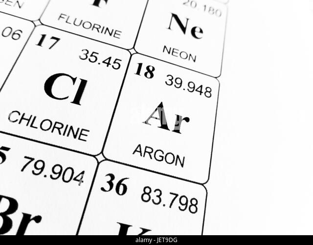 Argon Chemical Symbol Stock Photos Argon Chemical Symbol Stock