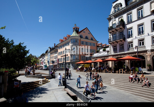 Sit Konstanz sitting in a pavement cafe stock photos sitting in a