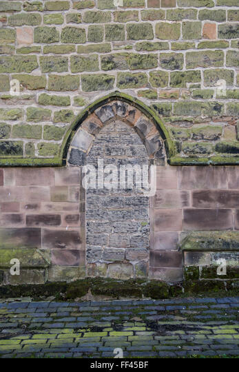 A bricked up doorway in the exterior wall of All Hallows Church Of England church. & Wall Bricked Up Entrance Stock Photos \u0026 Wall Bricked Up Entrance ... Pezcame.Com