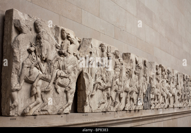 parthenon frieze The parthenon frieze the parthenon frieze, which runs on a continuous line around the exterior wall of the cella, is 1 meter high and 160.