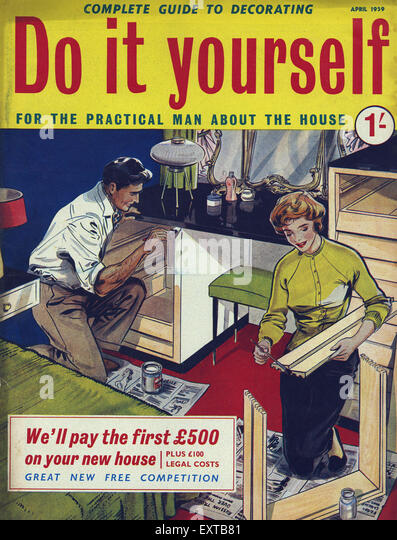 1950s uk home magazine cover stock photos 1950s uk home magazine cover stock images alamy. Black Bedroom Furniture Sets. Home Design Ideas