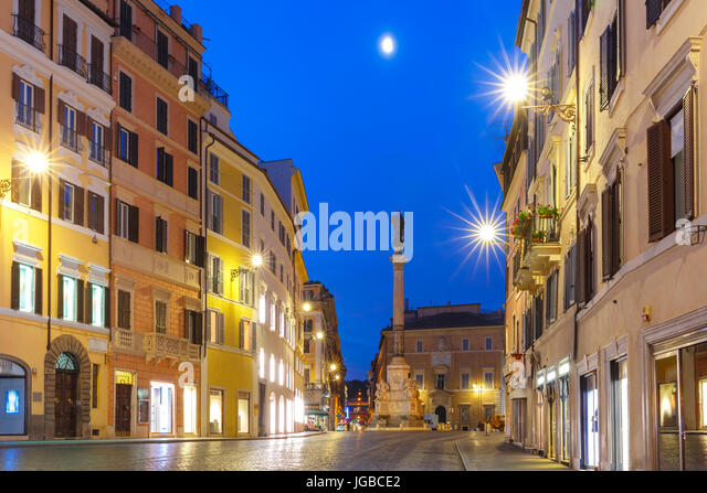 Column of the Immaculate Conception, Rome, Italy. - Stock Image