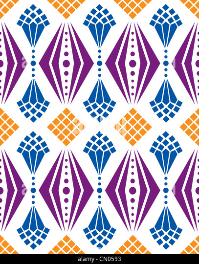 A seamless pattern design of geometric shapes depicting chandelier creating  classic look, great for background
