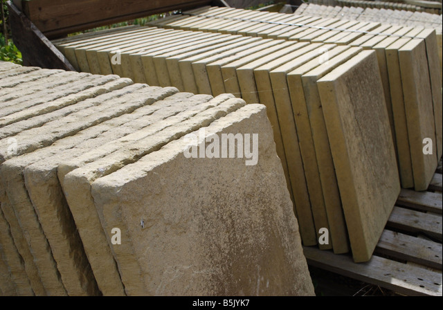 Stone Flags For Sale In Garden Center   Stock Image